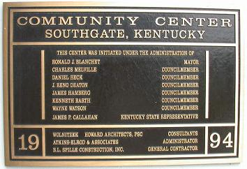 Southgate Community Center - Established 1994
